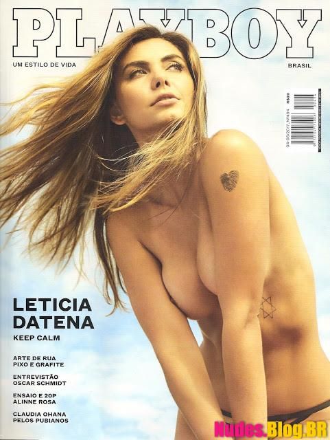 Leticia Datena nua na Playboy Abril 2017 Fotos Grátis + vídeo Making Of